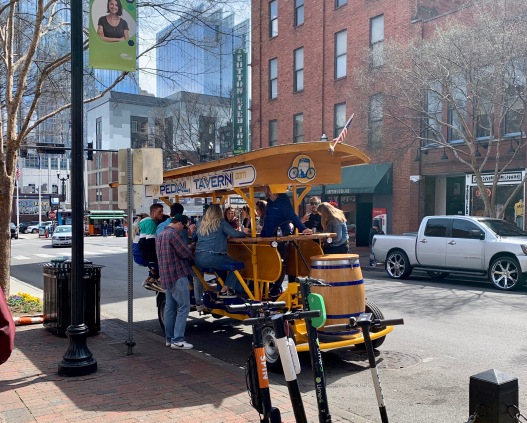 Pedal Tavern (with bartender in the center)